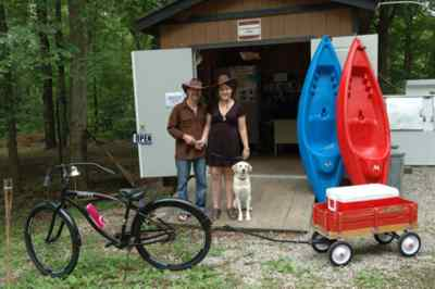 New concessionaire at red bluff campground camping with suzi red bluff campground in mark twain nf mo has new managers rob and allie bring some new ideas to job our favorites the lending library and nightly ice sciox Images
