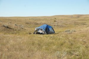 Dispersed campsite in Oglala National Grassland