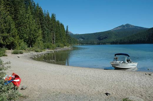 Beach at Walupt Lake campground