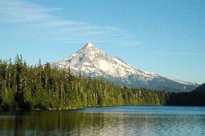 view of mt. hood from Lost Lake campground