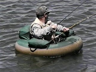 What was the wettest boat you have ever rode the hull for Belly boat fishing