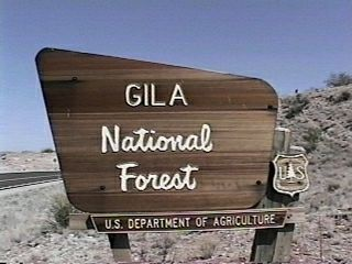 Gila National Forest Campgrounds - Us forest campgrounds map