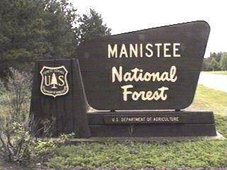 Manistee National Forest Campgrounds - Us forest campgrounds map