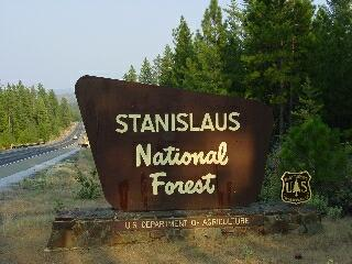 Stanislaus National Forest Campgrounds - Us forest campgrounds map