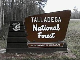 Talladega National Forest Campgrounds - Us forest campgrounds map