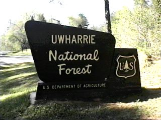 Uwharrie National Forest Campgrounds - Us forest campgrounds map